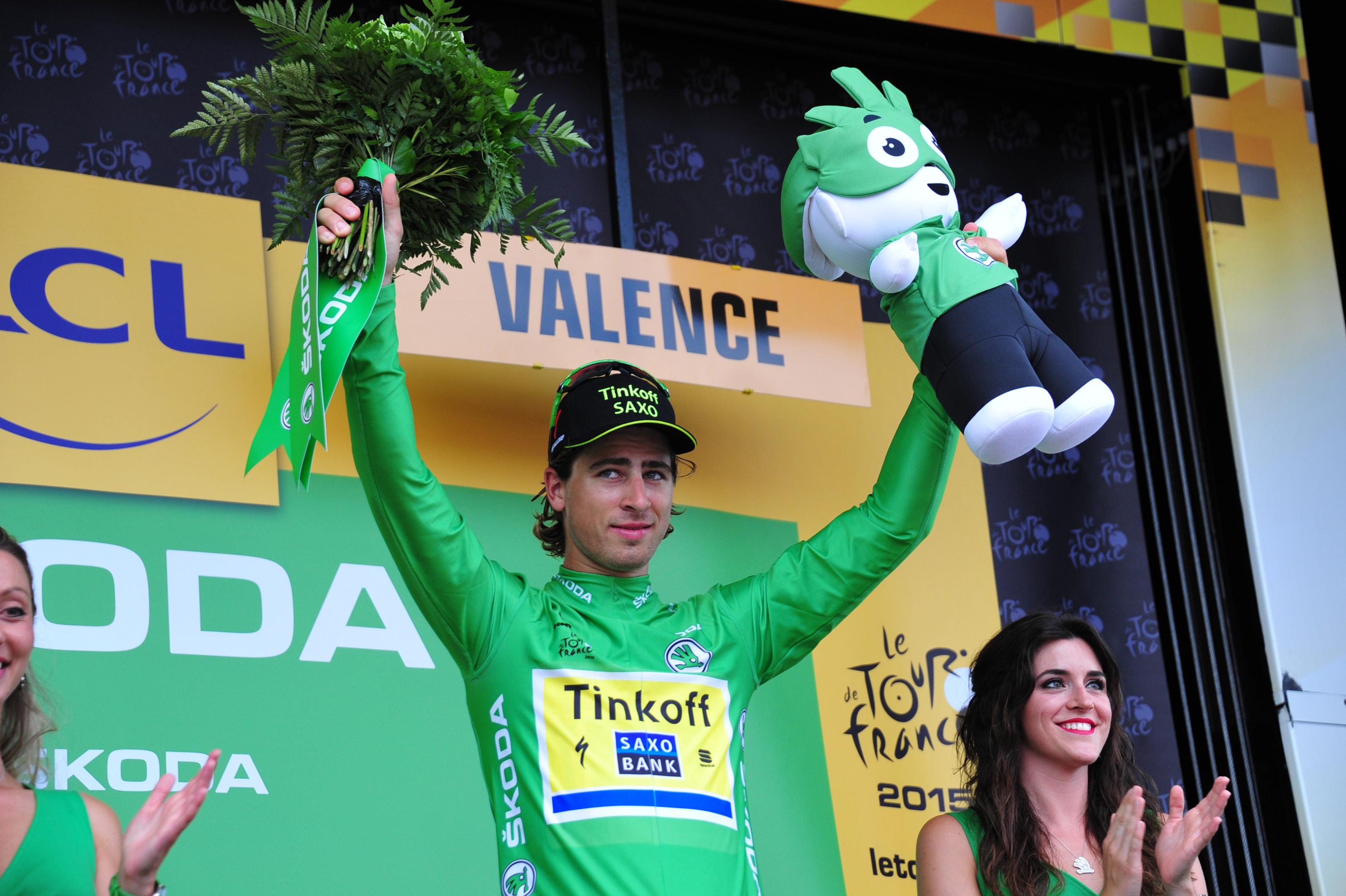 Peter Sagan konnte trotz Punkteverlust auf Greipel das Grüne Trikot halten. (pic: Sirotti)