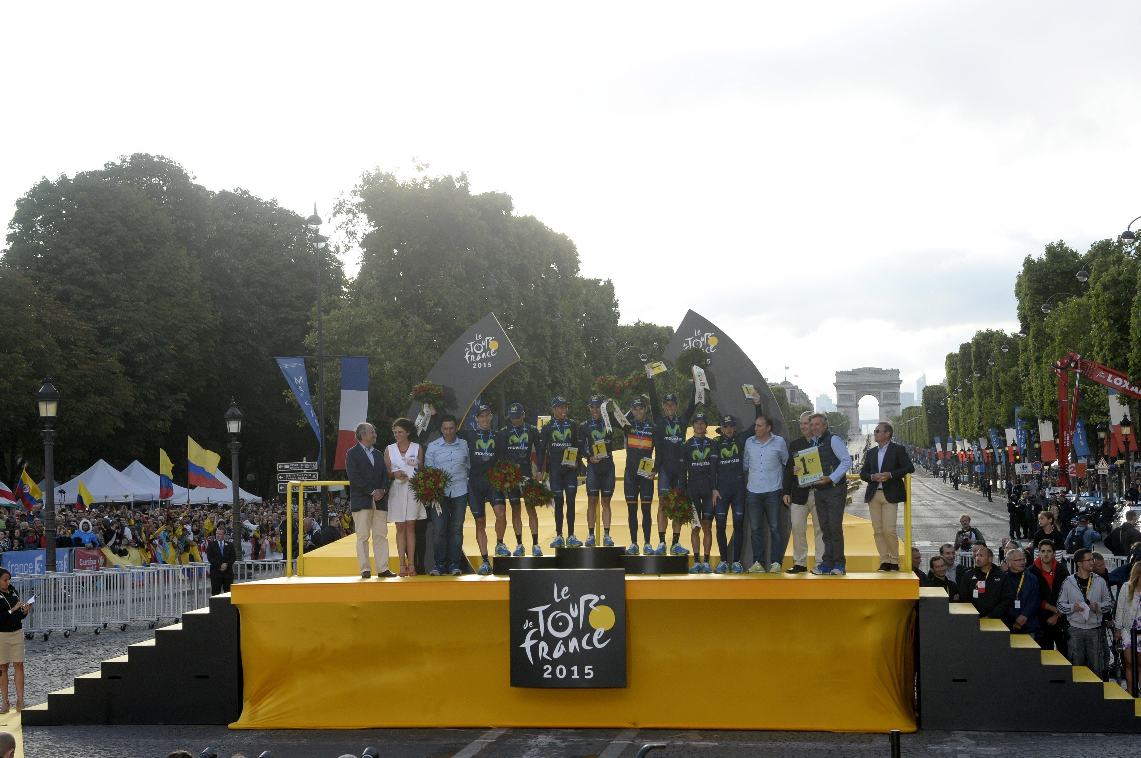 Movistar hat die Teamwertung der Tour de France 2015 gewonnen. (pic: Sirotti)