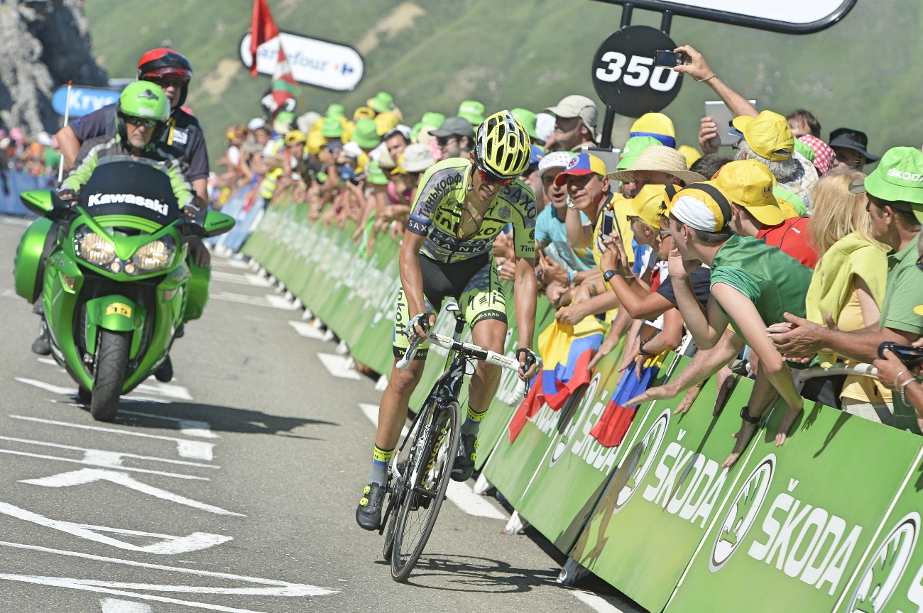 Tour de France 2015 - 10. Etappe - Alberto Contador muss sich Froome vorerst geschlagen geben. (pic. Sirotti)