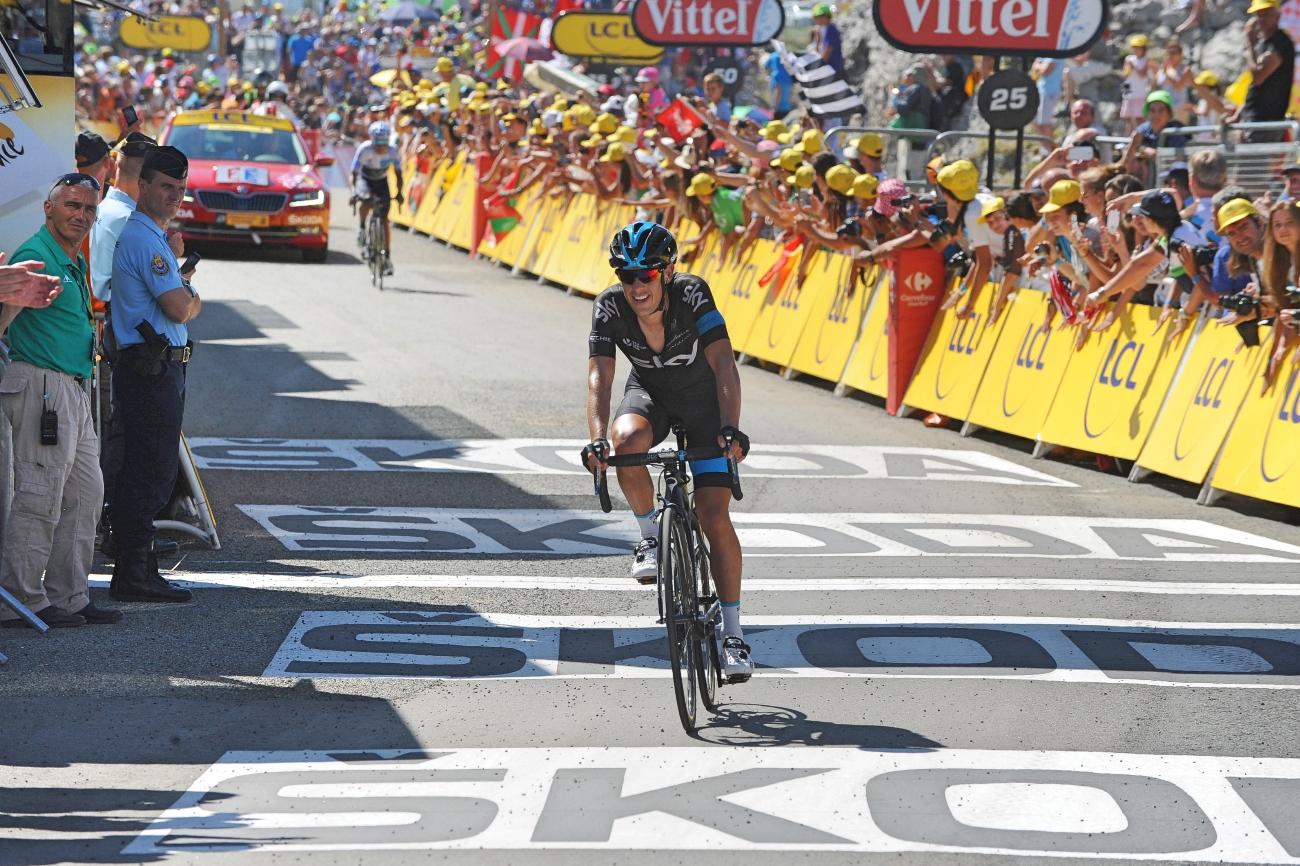 Tour de France 2015 - 10. Etappe - Zieleinfahrt. (pic: Sirotti)