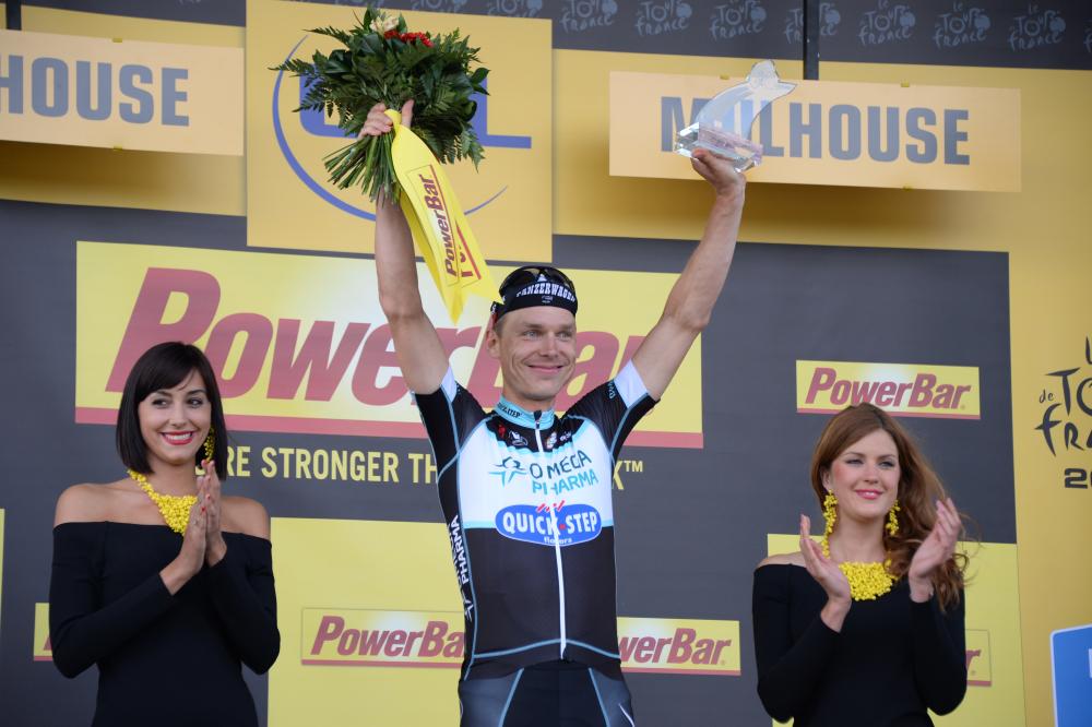 Tony Martin hat die 4. Etappe der Tour de France 2015 vor John Degenkolb gewonnen. Ein toller deutscher Doppel-Erfolg! Damit sichert sich Martin das Gelbe Trikot! (Pic: Gautier Demouveaux/ASO)