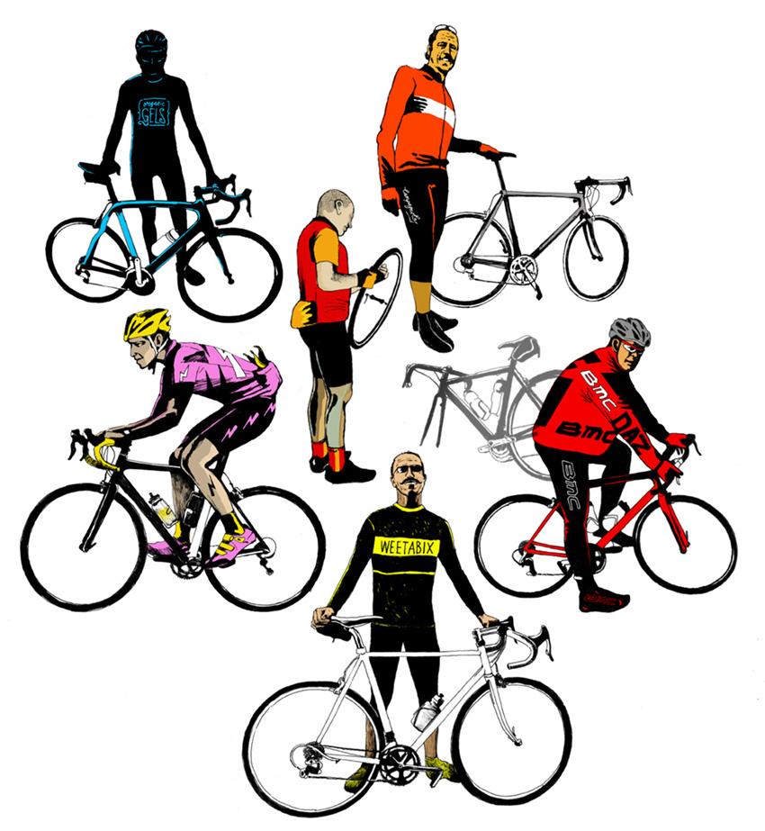 Welcher Rennradfahrer-Typ bist du? (Illustration: Matt Ward)
