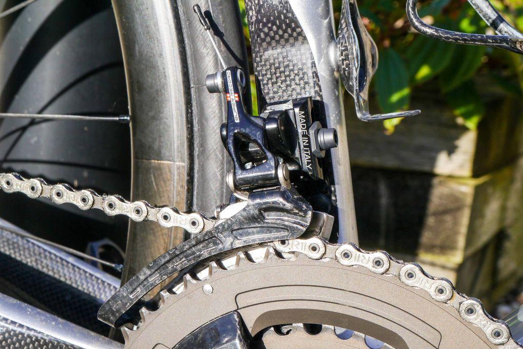 Campagnolo Super Record – der Umwerfer der mechanischen Gruppe
