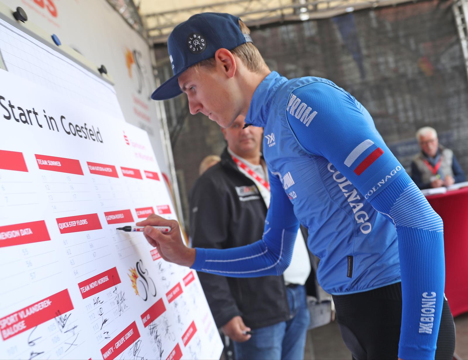 Radrennen Einschreibung Gazprom RusVelo