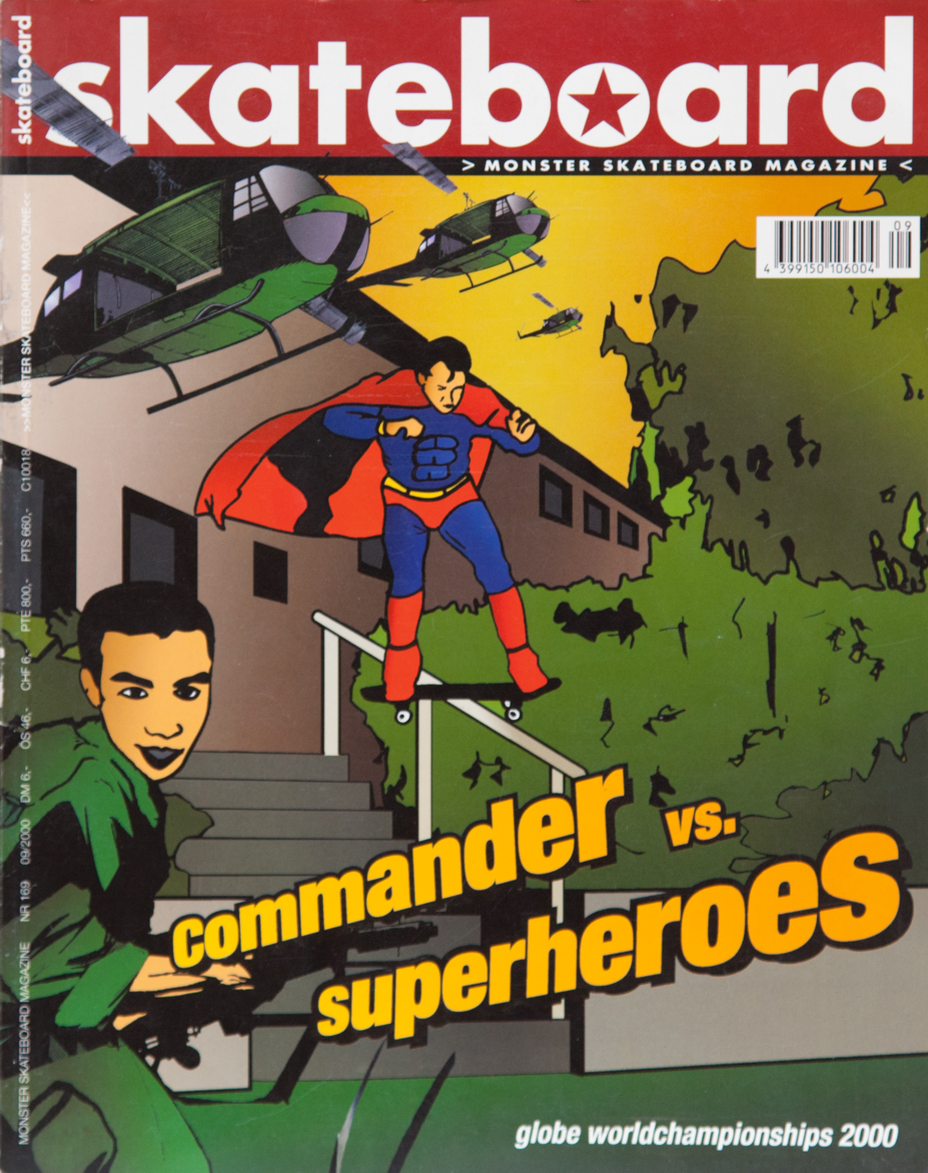 """Ralph Wegner mit seinem """"Commander"""" Interview im Comicstyle, inklusive Fotoshooting samt Flasche Scotch. Das Cover zur Ausgabe verdient den Titel: Worst Cover Ever."""