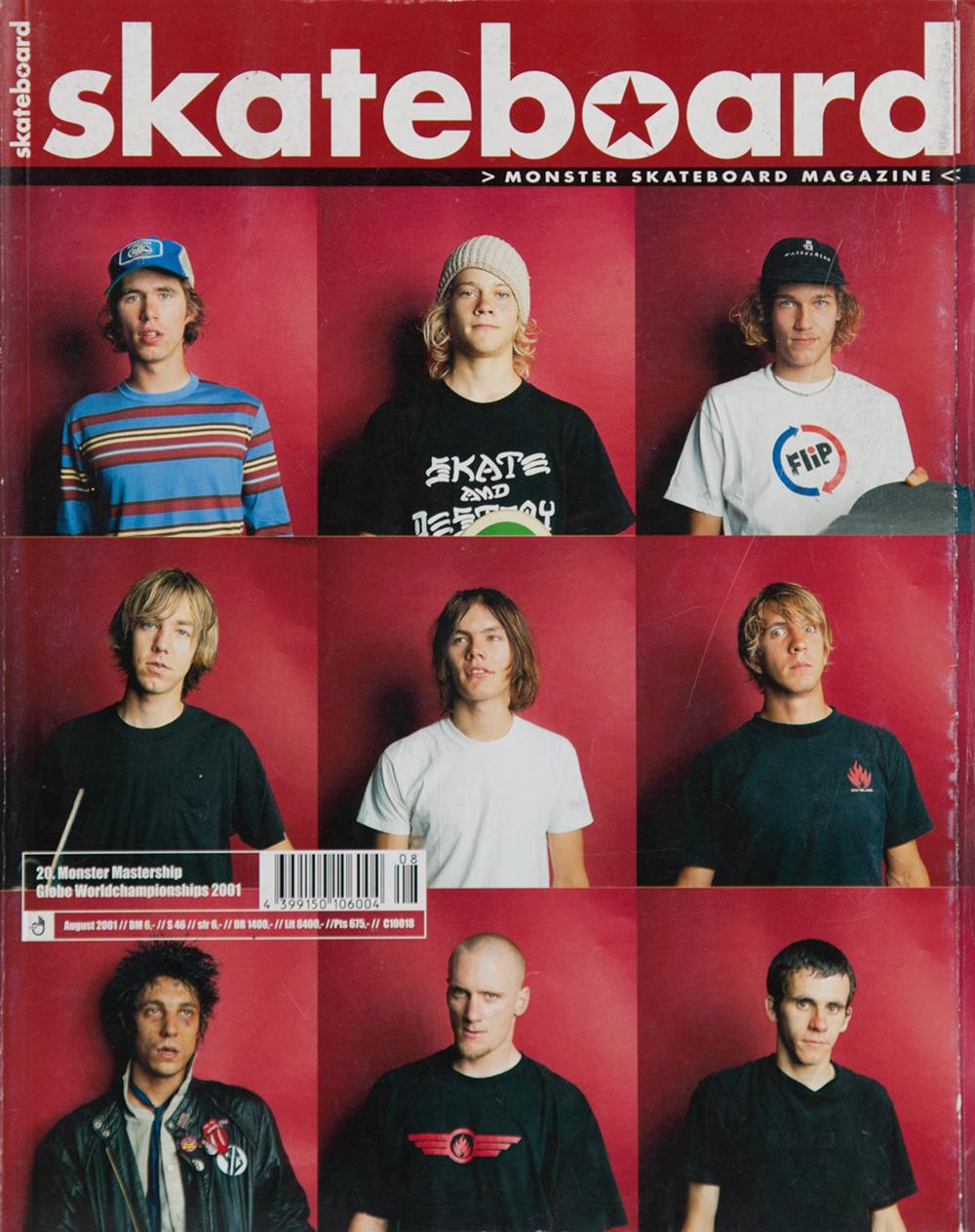 Zum Mastership 2001 hat Helge Tscharn das Who-is-Who der internationalen Skateelite vor den roten Teppich gebeten. Bestes Bild dabei wohl das vom verbeulten Jim Greco.