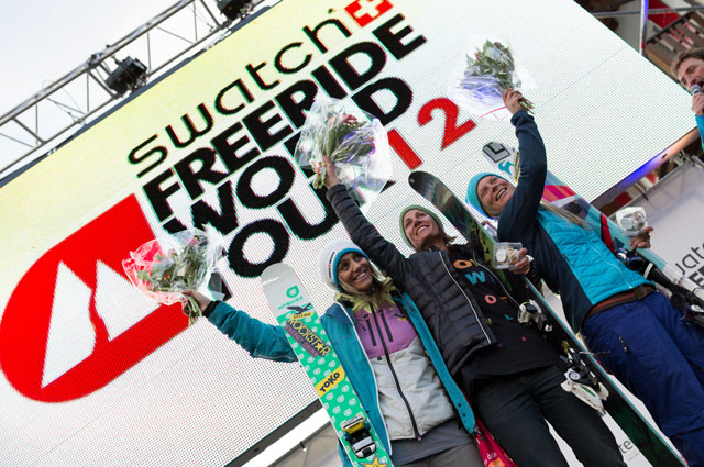 The best riders on the best mountains in the ultimate freeride competition - the 2012 Swatch Freeride World Tour goes into its 5th season and consists of six (6) stops in Revelstoke (Canada), Chamonix-Mont-Blanc (France),  Courmayeur Mont-Blanc (Italy), Røldal (Norway), Fieberbrunn (Austria) and the final in Verbier (Switzerland).