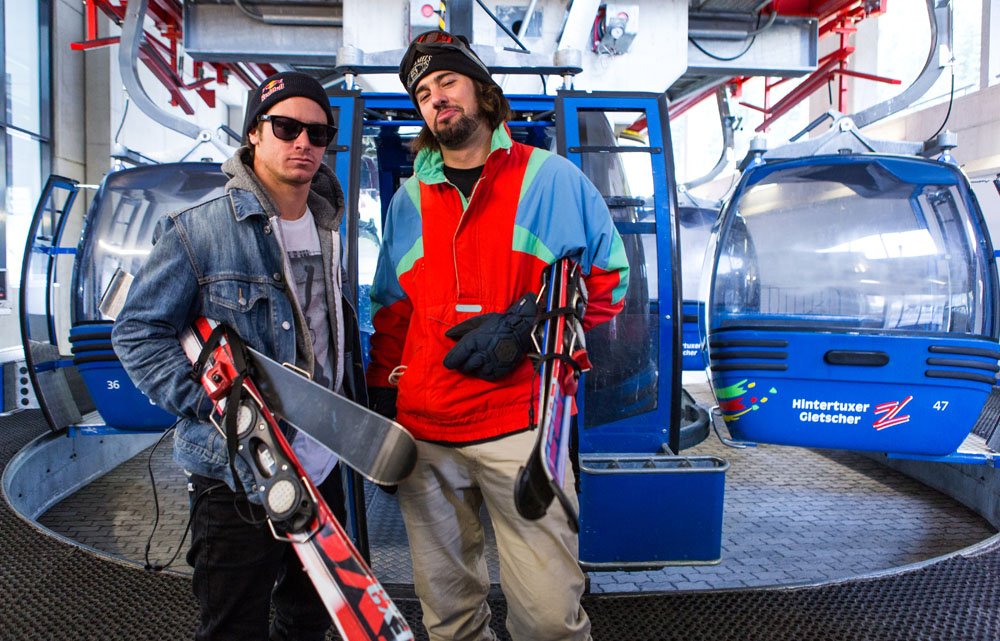 Jet Setters Sean Petit and Luke Van Valin ready to shred some gnar on their blades! Photo by Audric Gagnon