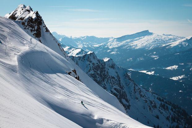 Trotz mäßigem Schneefall in den vergangenen Tagen fand die Gruppe noch den ein oder anderen Powderhang.