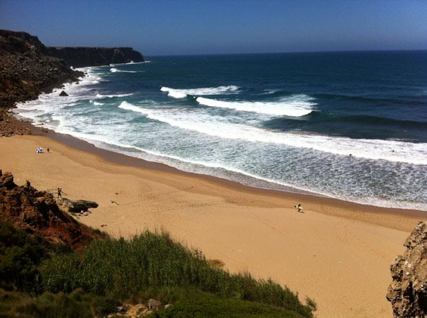 Kein schlechter Ausblick: fette Wellen und nichts los!