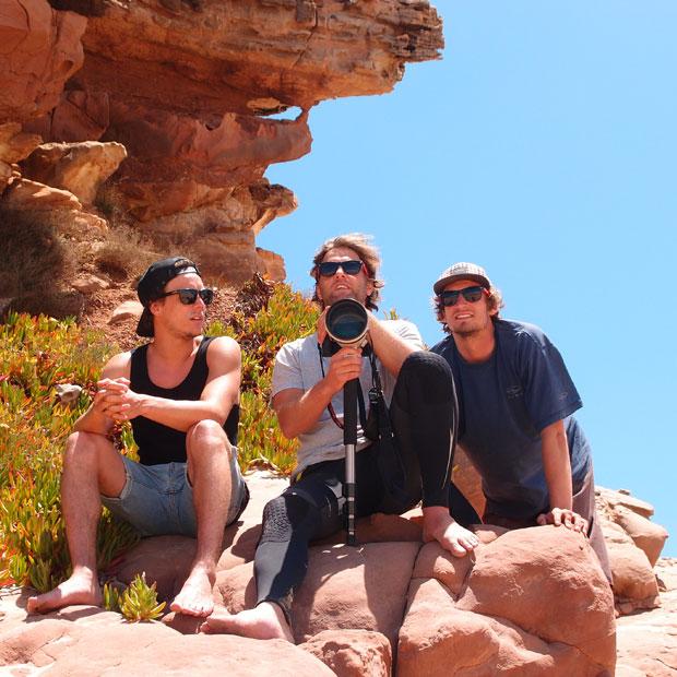 Silvano, Basti und Felix auf dem Ausichtspunkt.