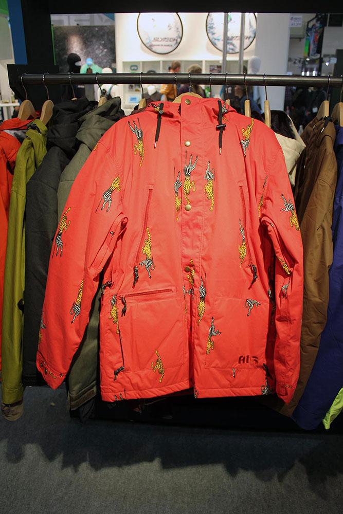 Bei Airblaster stehen auch im nächsten Winter ausgefallene Allover-Prints im Kurs. Wie zum Beispiel beim AB/BC Jacket,...