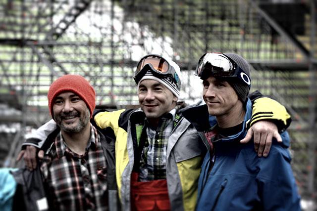 V.l.n.r.: Bryan Iguchi, Jamie Lynn, Terje Haakonsen; Foto: Felix Krüger