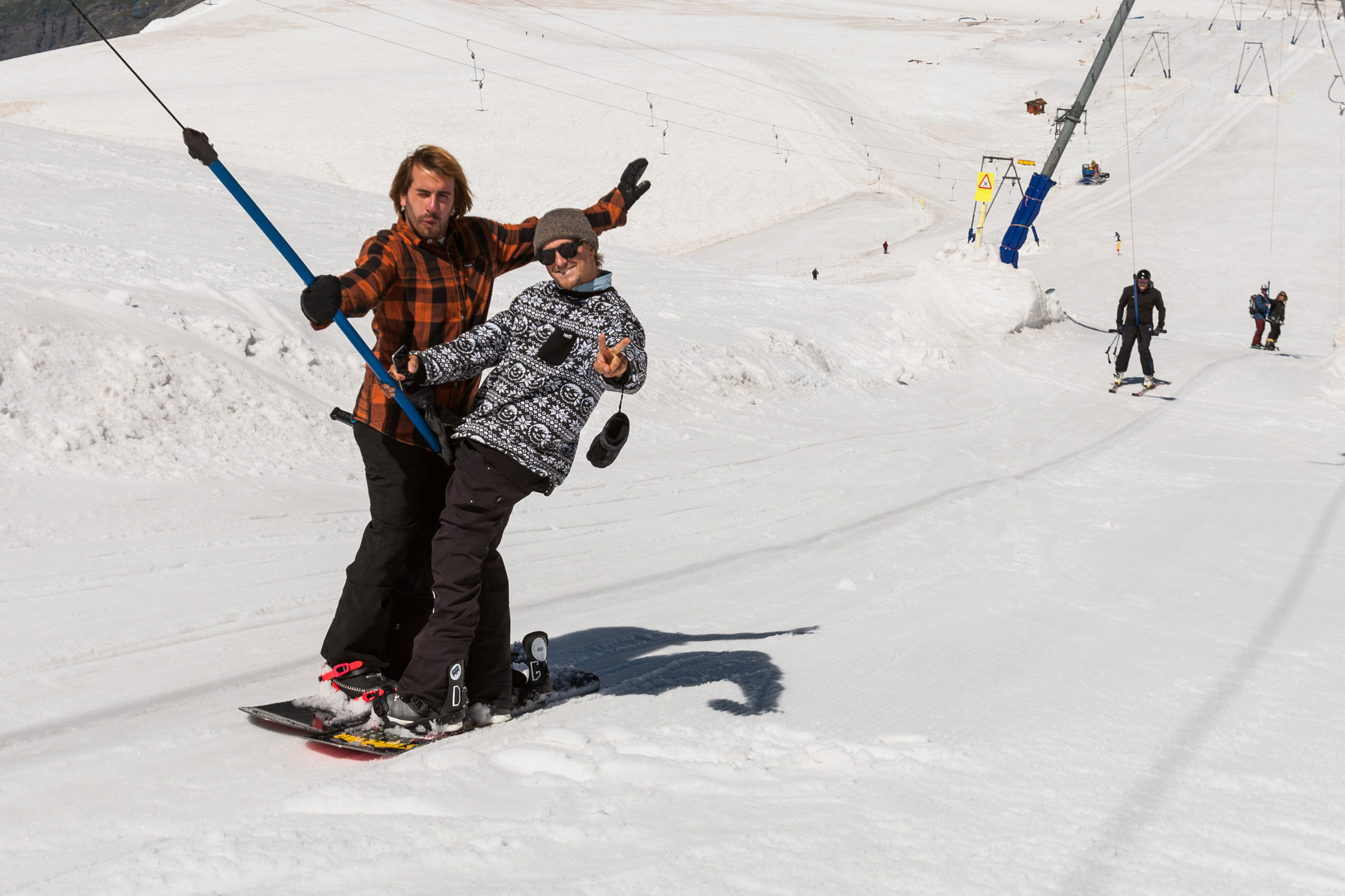 T-bar bro-down. Photo: Perly