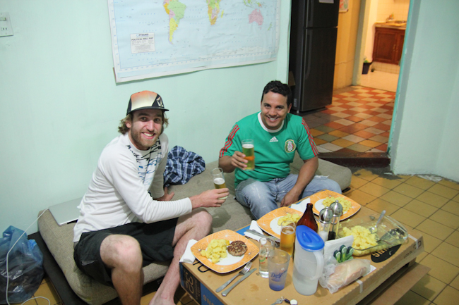 Couchsurfing Dinner mit Host Nic in Mexiko