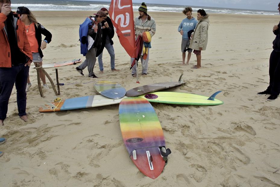 Die Boards von PT Surfboards - da war für jeden was dabei