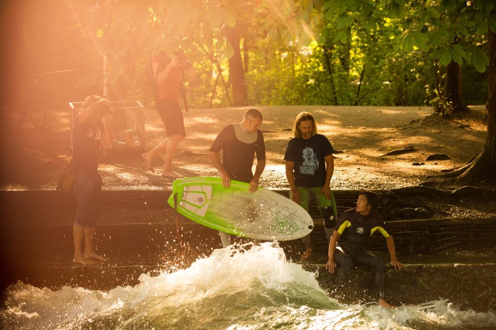 Garrett mit seinen Instruktoren Tao und Carsten