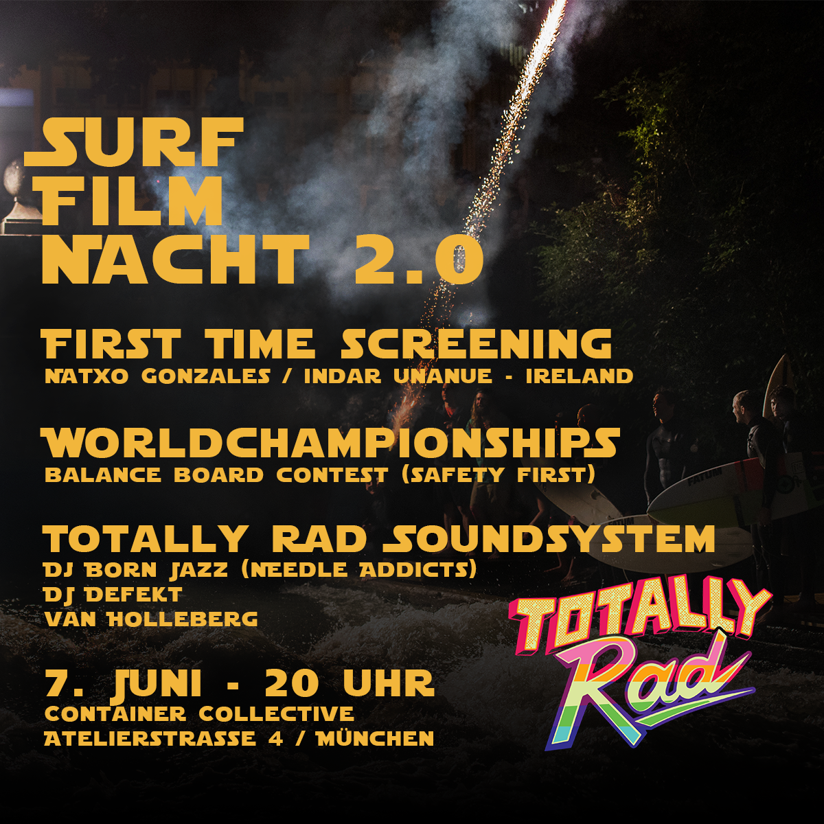Totally Rad Presents Surf Film Nacht 20 Surfers Mag
